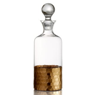Fitz Floyd 'Daphne' Goldtone and Glass Decanter