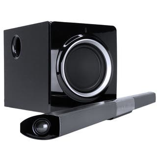 Turcom TS-412 Premium 2.1 Channel Bluetooth NFC Soundbar with Wireless Subwoofer- Black|https://ak1.ostkcdn.com/images/products/9607716/P16793291.jpg?impolicy=medium