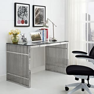 Gridiron Stainless Steel Desk|https://ak1.ostkcdn.com/images/products/9607737/P16793297.jpg?impolicy=medium