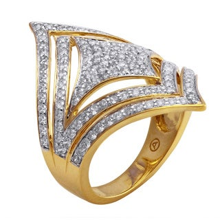 Beverly Hills Charm 14k Yellow Gold 1 1/5ct TDW Diamond Ring