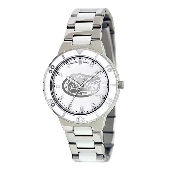 Game Time Women's Florida Gators Logo Pearl Watch