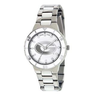 Game Time Women's Georgia Bulldogs Logo Pearl Watch