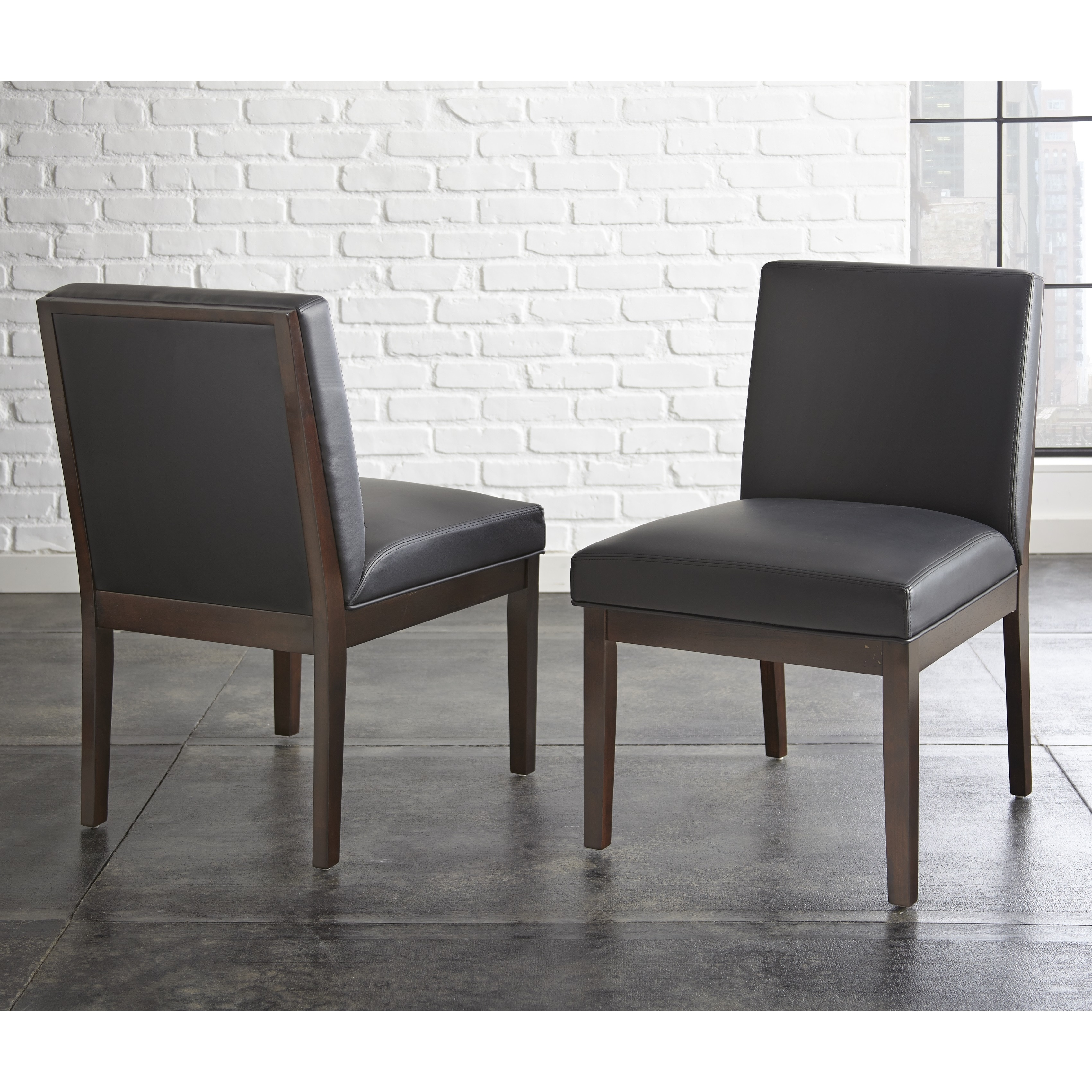 Greyson Living Zuri Bonded Leather Chair Set