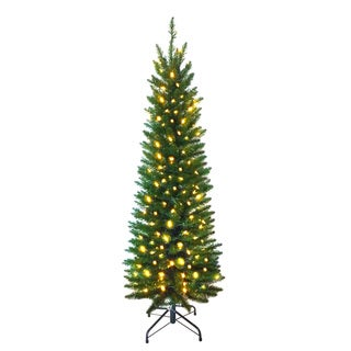 7-foot Pre-lit Pencil Pine