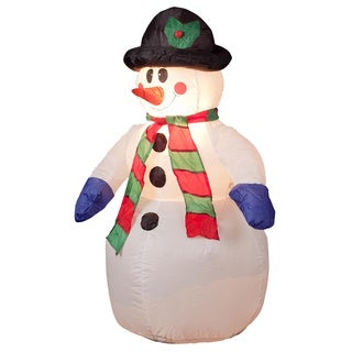 4-foot Illuminated Inflatable Snowman