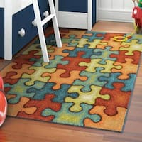 "Carolina Weavers Playroom Collection Perfect Piece Olefin Area Rug (5'2 x 7'6) - 5'2"" x 7'6"""