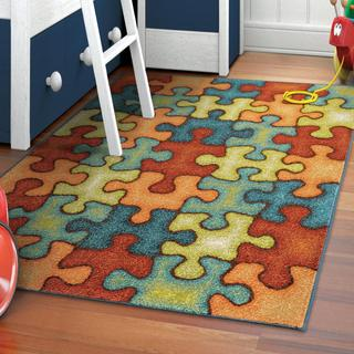 "Carolina Weavers Playroom Collection Perfect Piece Olefin Area Rug (5'2 x 7'6) - 5'2"" x 7'6"""