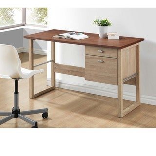 Baxton Studio Van Buren Sonoma Oak Finishing Modern Writing Desk