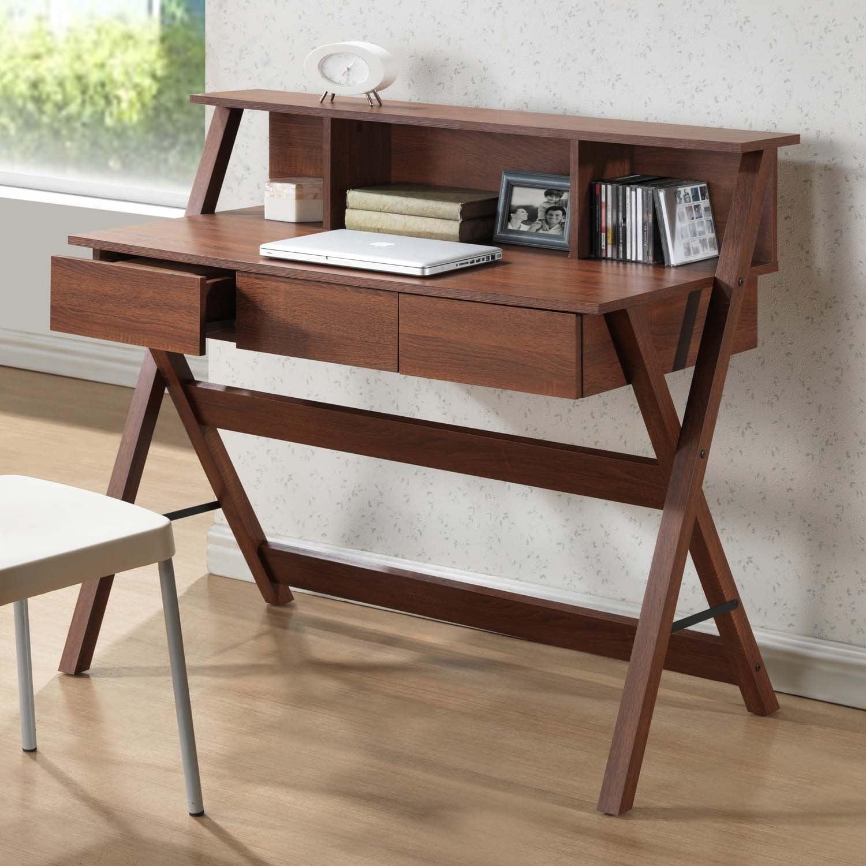 Baxton Studio Freen Sonoma Oak Finishing Modern Writing Desk