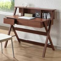 Porch & Den Victoria Park Brickell Oak Finish Modern Writing Desk