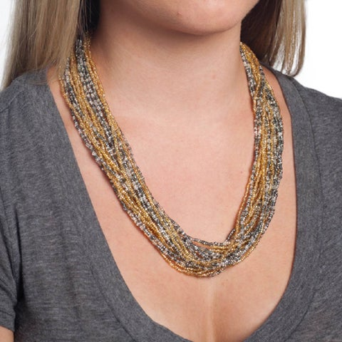 Handmade Multistrand Necklace (Guatemala)