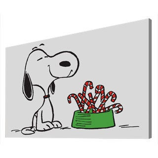 Charles M. Schulz 'Snoopy Candy Canes 1' Canvas Art