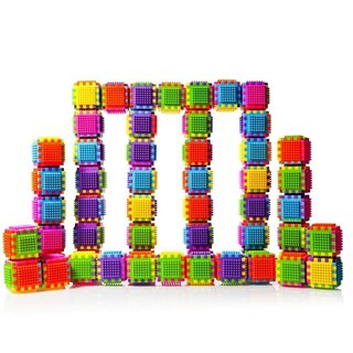 DC5190 60-piece Stacking Bristle Blocks and Interconnecting Building Set by Dimple