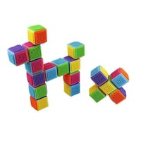 24-piece Stacking Bristle Blocks and Interconnecting Building Set by Dimple