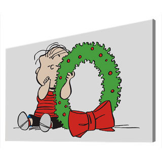 Charles M. Schulz 'Linus Wreath' Canvas Art