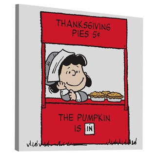 Charles M. Schulz 'Thanksgiving Pies' Canvas Art