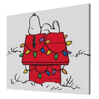 Charles M. Schulz 'Snoopy Christmas Lights' Canvas Art