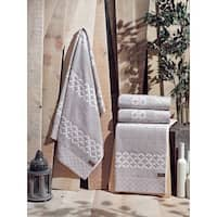 Enchante Carrol Turkish Cotton Bath Towel (Set of 2)