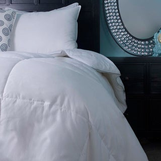 Luxury Oversized American White Down Bafflebox Comforter