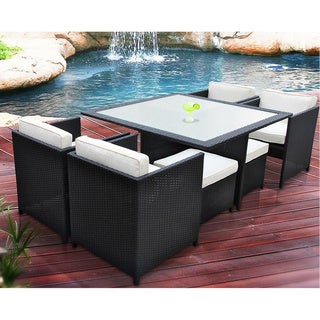 Transposed 9-piece Outdoor Patio Dining Set