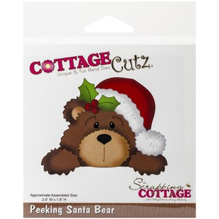 CottageCutz Die-Santa Bear