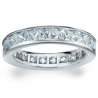 Amore Platinum 3ct TDW Princess Eternity Diamond Wedding Band