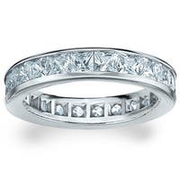 Amore Platinum 3ct TDW Princess Eternity Diamond Wedding Band