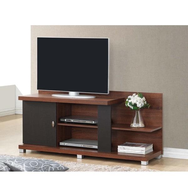 baxton studio stratos sonoma oak modern tv stand