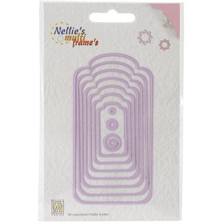 Nellie's Choice Multi Frame Dies-Curved Tags, 11/Pkg