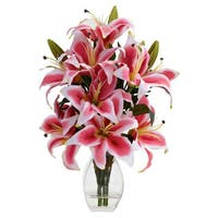 Rubrum Lily Arrangement with Decorative Vase