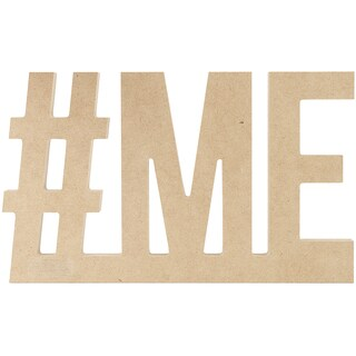"Beyond The Page MDF #ME Wall Word-8.75""X5.5"".5"""