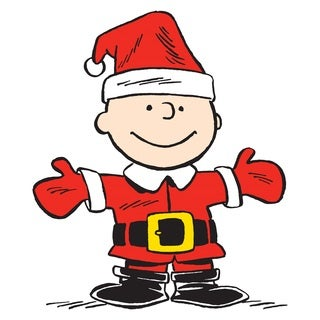 Charles M. Schulz 'Charlie Brown Santa' Canvas Art