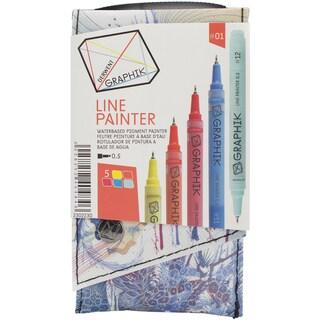 Graphik Line Painter Set 5/Pkg-Palette #1