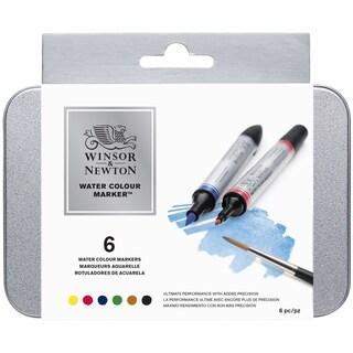 Winsor & Newton Watercolor Marker Set 6/Pkg