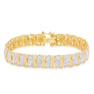 Finesque Yellow Gold Overlay 2 3/4ct TDW Diamond Bracelet (I-J, I2-I3)