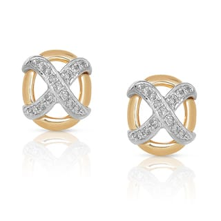 Eloquence 14k Two-tone Gold 1/10ct TDW White Diamond Stud Earrings https://ak1.ostkcdn.com/images/products/9608756/P16794280.jpg?impolicy=medium