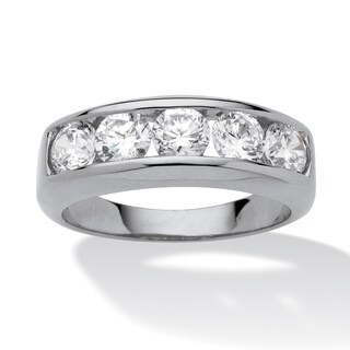 Men's 2.50 TCW Round Cubic Zirconia Ring in Platinum over Sterling Silver (More options available)