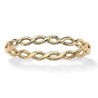 Braided Twist Ring in 10k Gold Tailored