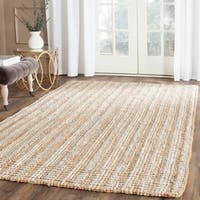 Safavieh Casual Natural Fiber Hand-Woven Grey Chunky Thick Jute Rug (4' x 6')