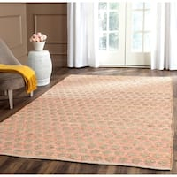 Safavieh Cape Cod Handmade Orange / Natural Jute Natural Fiber Rug - 5' x 8'