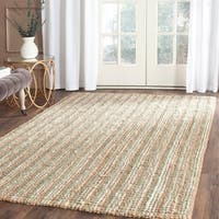 Safavieh Casual Natural Fiber Hand-Woven Sage / Natural Chunky Thick Jute Rug - 4' x 6'