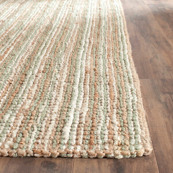 Safavieh casual natural fiber hand woven sage natural for Thick area rugs sale