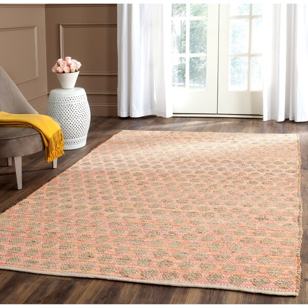 Safavieh Cape Cod Handmade Orange / Natural Jute Natural Fiber Rug - 8' x 10'
