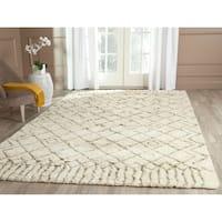 Safavieh Hand-Tufted Casablanca Ivory/ Green New Zealand Wool Rug (8' x 10')