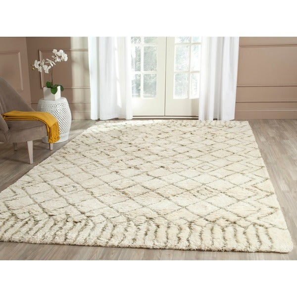 Safavieh Hand-Tufted Casablanca Ivory/ Green New Zealand Wool Rug - 8' x 10'