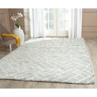 Safavieh Hand-Tufted Casablanca Blue/ Ivory New Zealand Wool Rug - 8' x 10'