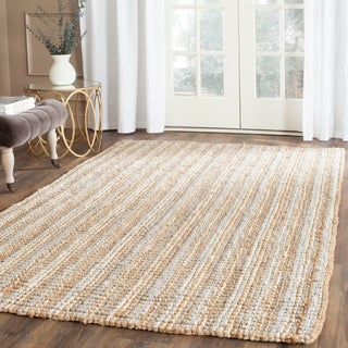 Safavieh Casual Natural Fiber Hand-Woven Grey Chunky Thick Jute Rug (5' x 8')