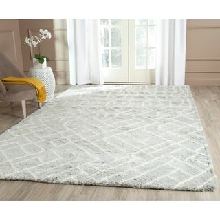 Safavieh Hand-Tufted Casablanca Blue/ Ivory New Zealand Wool Rug (6' x 9')