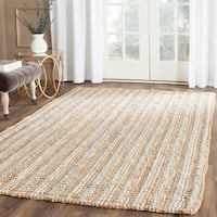Safavieh Casual Natural Fiber Hand-Woven Grey Chunky Thick Jute Rug (6' x 9')