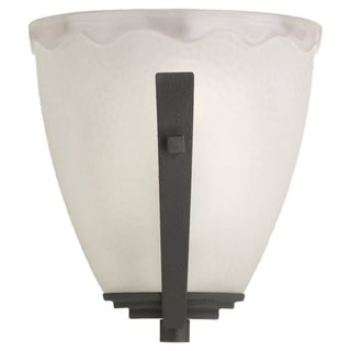 Single Light White Glass Wall Sconce
